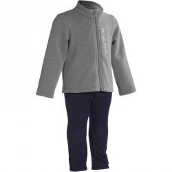 Survêtement zipé imprimé Gym baby gris Warm'y Zip