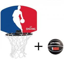 SHOT CASE - SPALDING Mini panier Logo NBA