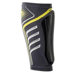 Protège-tibias Uhlsport Carbon Flex - gris/jaune fluo - L