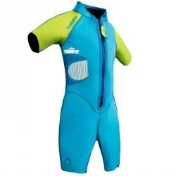 Shorty de snorkeling enfant 100 kid bleu vert