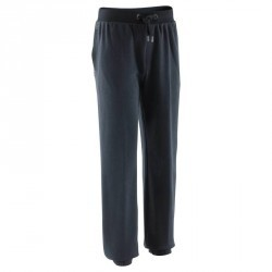 Pantalon molleton regular Gym & Pilates homme noir
