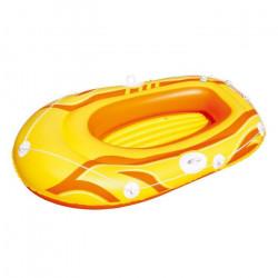 61052- Canot pneumatique en 3 couleurs 155x93 cm pour les enfants et les adultes (Jaune)
