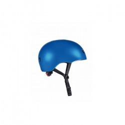 Casque Vélo et Trottinette Bleu foncé brillant lumière LED intégrée Taille S