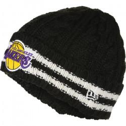 Bonnet NBA Los Angeles Lakers New Era Team Stripe Noir