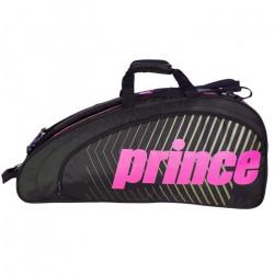 Sac de tennis Prince Tour Future 6R Rose / Noir - Couleur:Noir Type Thermobag:6 raquettes