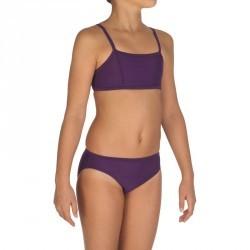 Maillot de bain 2 pièces fille brassière violet