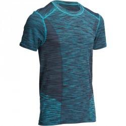 T shirt YOGA+ sans couture bleu/noir homme