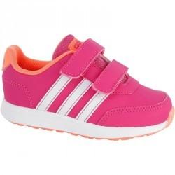 Chaussures gym bébé rose blanc orange