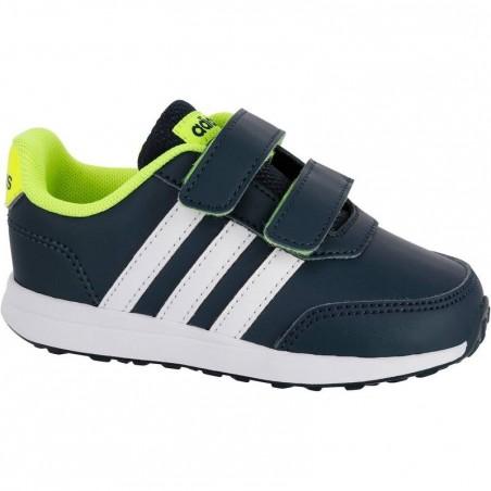Chaussures gym bébé bleu blanc jaune