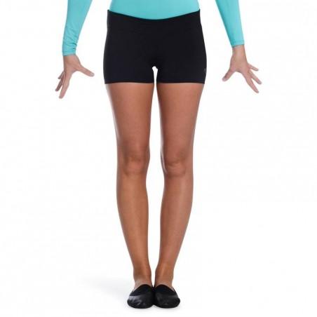 Shorty Gymnastique Féminine (GAF et GR) noir sequins.