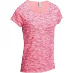 T shirt yoga en coton bio femme rose