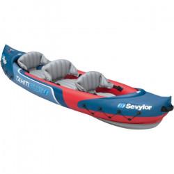 SEVYLOR Kayak loisirs Tahiti plus - 2 adultes 1 enfant rouge et bleu - Backpack system
