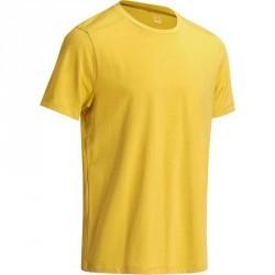 T-Shirt regular Gym & Pilates homme jaune moutarde