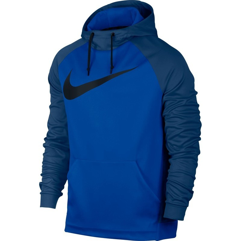 Sweat à capuche fitness homme bleu