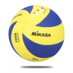 MIKASA Ballon de volley-ball enfant MVA 123 SL - Taille 5 - Bleu et jaune