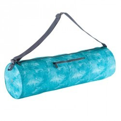 Sac tapis de yoga imprimé bleu
