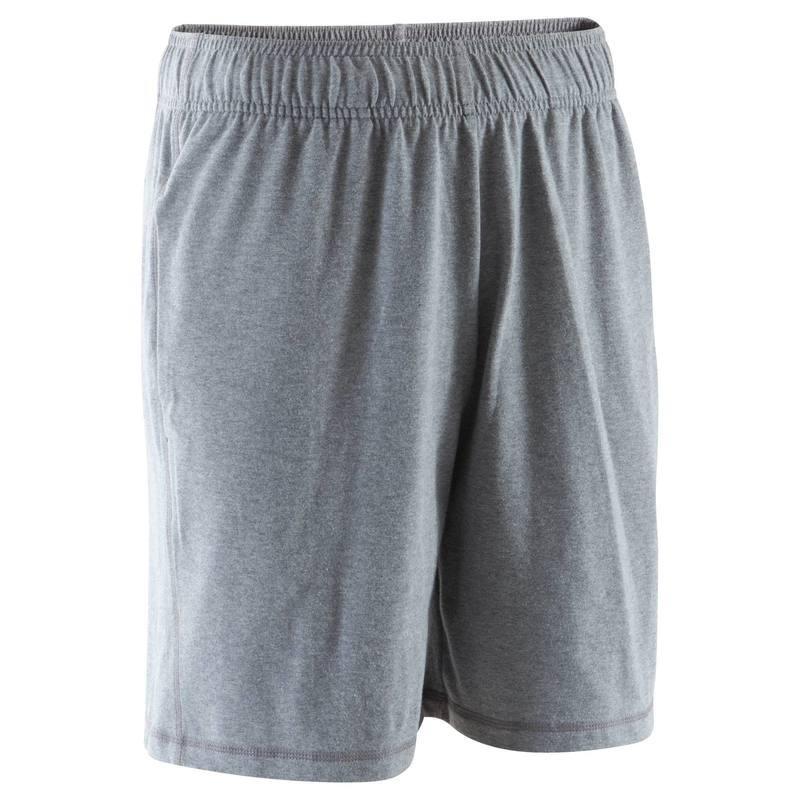 Short au dessus du genou Gym & Pilates homme gris moyen