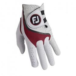 Foot Joy Footjoy Pro FLX Gant de Golf Homme L Blanc/Rouge - 68054