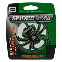 TRESSE SPIDERWIRE STEALTH SMOOTH 8 MOSS - VERT - 150M - longueur:150m couleur:vert diametre (mm):0.13 resistance:6.4kg