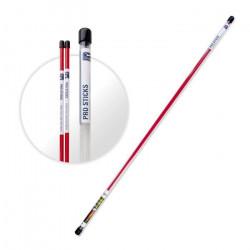 PGA TOUR Bâtons d'Alignement pour Golf - 123 cm - Rouge