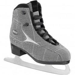Roces Vérifiez le patinage dames britanniques noir / blanc 35