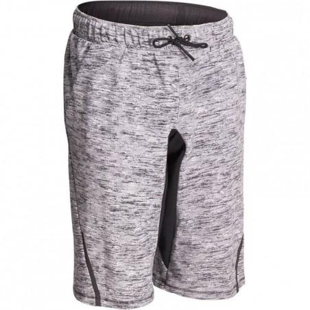 Short à hauteur de genou  900 Gym & Pilates homme gris chiné