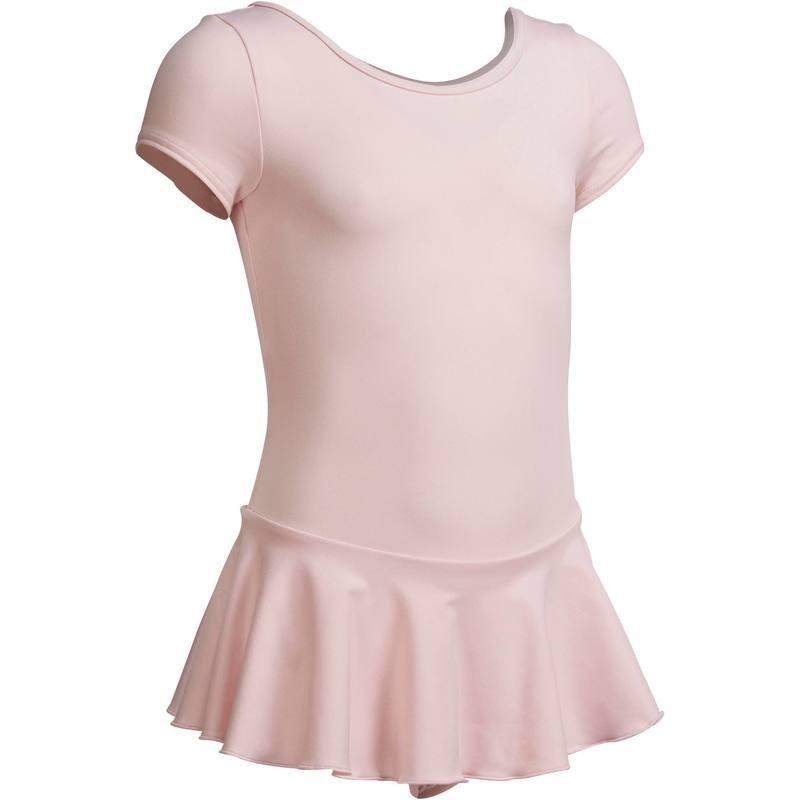 Justaucorps de danse classique manches courtes rose pâle.
