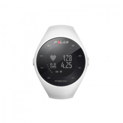 Polar - M200 - Montre Running GPS avec suivi de la Fréquence Cardiaque - Blanc - Taille ML
