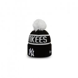 Bonnet MLB New York Yankees New Era Bobble Noir pour enfant Junior (53-55cm) Multicolor