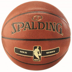 Ballon Spalding NBA Gold - orange-noir - Taille 5