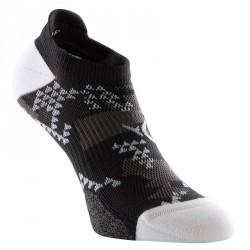 Chaussettes invisibles fitness x2 noir et blanc 500