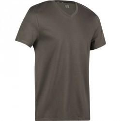 T-Shirt slim Gym & Pilates homme kaki