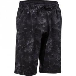 Short à hauteur de genou  900 Gym & Pilates homme gris chiné noir