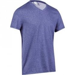 T-Shirt slim Gym & Pilates homme bleu jean