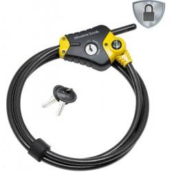 MASTER LOCK Cable antivol ajustable - Longueur ajustable de 30 cm à 4,5 m