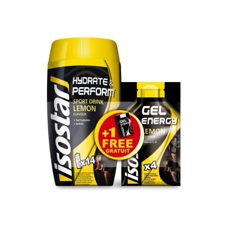 Isostar Lot Hydrate & Perform + Gel Energy - Citron Diététique Boissons