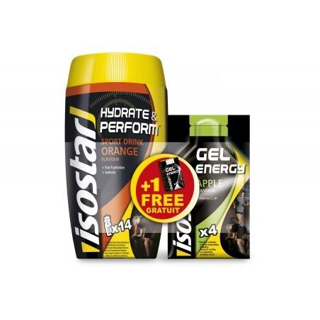 Isostar Lot Hydrate & Perform + Gel Energy - Orange / Pomme Diététique Boissons