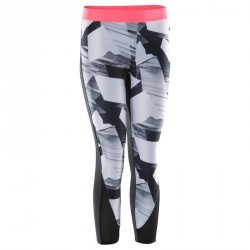 7/8 fitness cardio femme motifs noirs et blancs Energy +