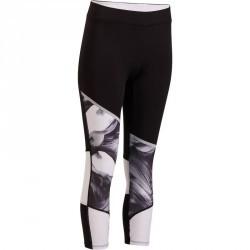 7/8 fitness cardio femme imprimé noir et blanc Energy Xtrem