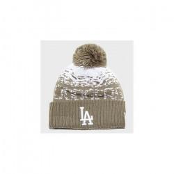 Bonnet MLB Los Angeles Dodgers à pompon New Era Sport Knit marron pour Enfant Junior (53-55cm) Multicolor