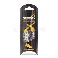 XTENEX Paire de lacets pour chaussures de sport - Autobloquants - 75 cm - Argent