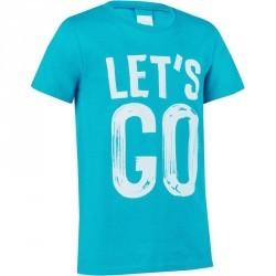 T-Shirt manches courtes imprimé Gym garçon bleu pétrole