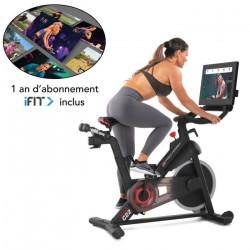 PROFORM - Vélo d'Appartement - Studio Bike Pro 22 Connecté iFIT /13 kg Effective Inertia / Abonnement 1-an inclus - Gris fonc