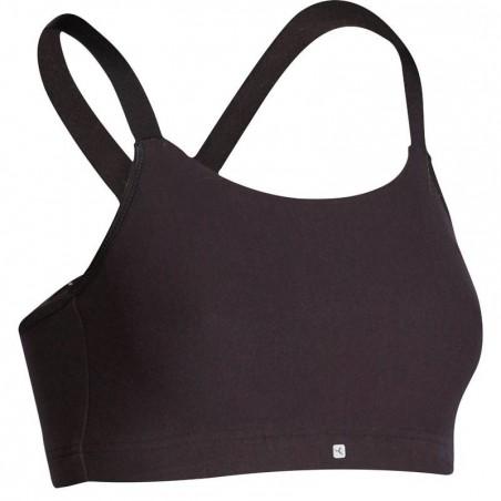Brassière fitness femme noire Confort