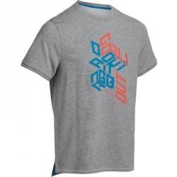 T Shirt regular imprimé Gym & Pilates homme gris
