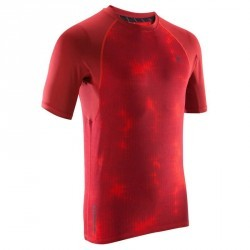 T SHIRT MUSCLE 500 ROUGE AOP