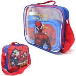 Spiderman Boîte Déjeuner Et Bouteille En Sac Repas Isotherme