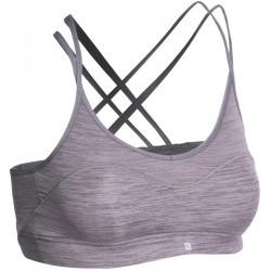 Brassière fitness femme grise Confort +
