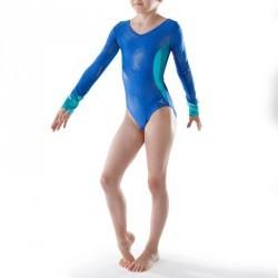 Justaucorps manches longues Gymnastique Féminine (GAF et GR) Bleu 520