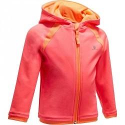 Veste chaude zippée capuche Gym baby rose